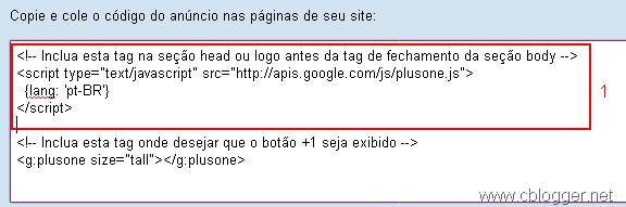 Google +1 código