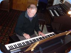 Colin Crann playing the Club's Clavinova