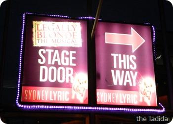 Legally Blonde Stage Door