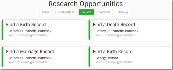 Find-a-Record research opportunities: sources are needed