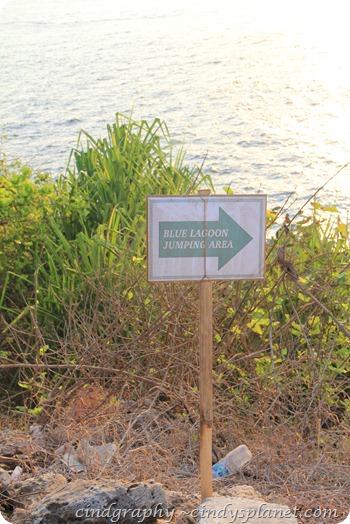 Blue  Lagoon Sign Board