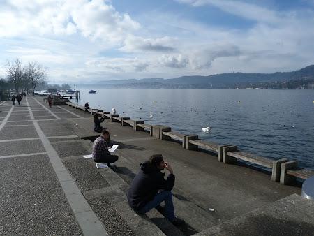 Obiective turistice Zürich: Pe malul lacului Zurich