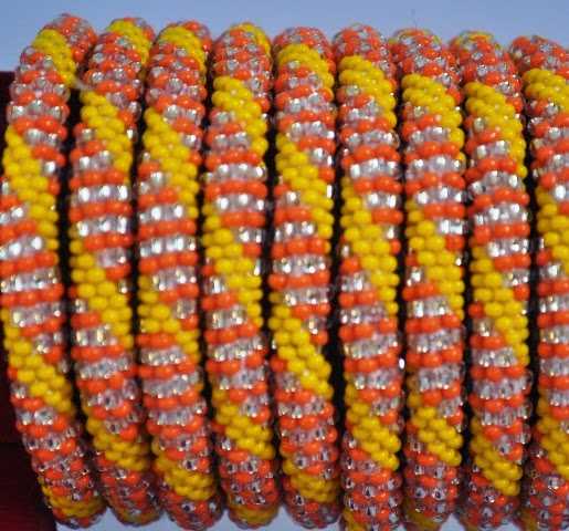 Rollover Yellow Series Bead Braclets