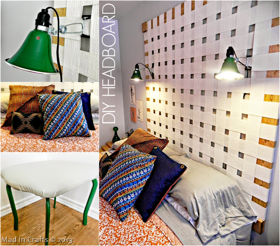 DIY Headboard - Mad in Crafts
