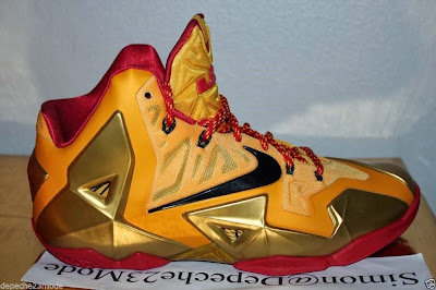nike lebron 11 pe fairfax away 1 10 Nike LeBron XI (11) Fairfax Lions Away PE   Detailed Look