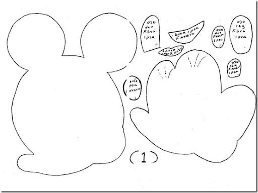 Moldes de Mickey y Minnie para imprimir - Imagui