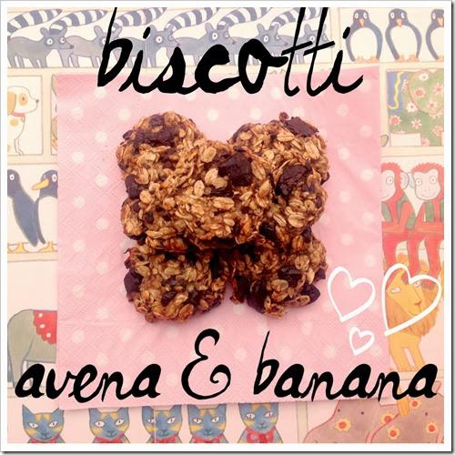 biscotti avena e banana