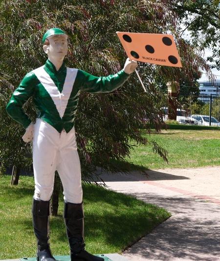 jockey statue