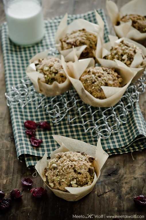 Spiced Cranberry and Pistachio Muffins (0024) by Meeta K. Wolff