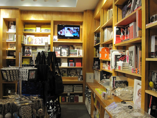 A view of the back of the store. You can also purchase some music as well as headphones.