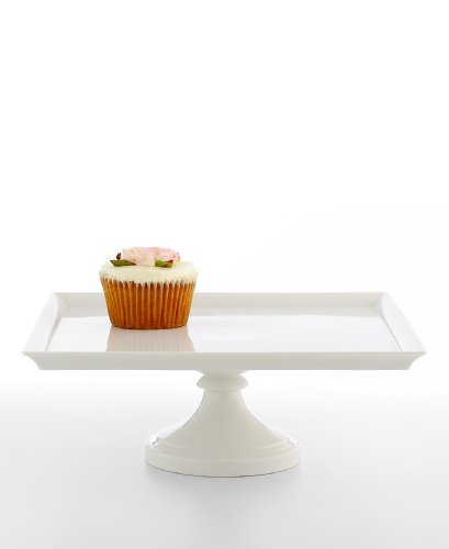 I love this cake stand from the Martha Stewart Collection at Macy's! It is perfect to prop-up some desserts or you can stack up a pile of fruit without any worries that they will fall off the stand thanks to the design of the edges.