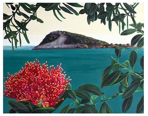 green island and pohutukawa