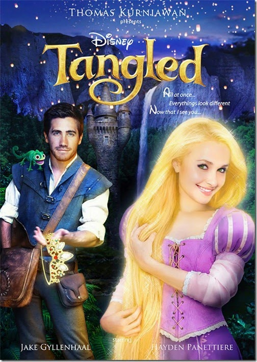 Jake Gyllenhaal e Hayden Panettiere como Flynn e Rapunzel