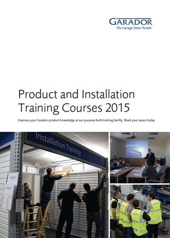 Garador 2015 training course brochure front cover