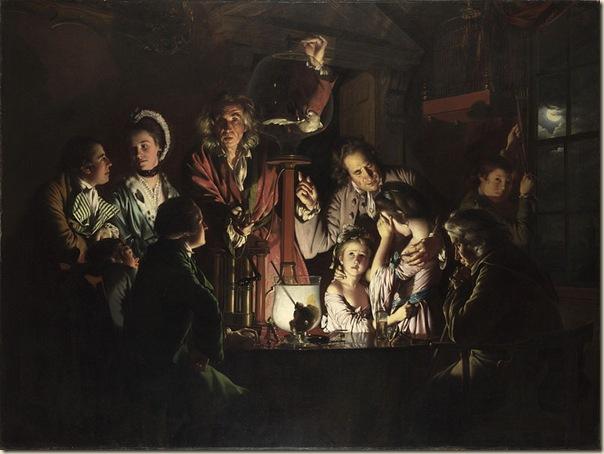 Joseph Wright of Derby, Expérience avec une pompe à air
