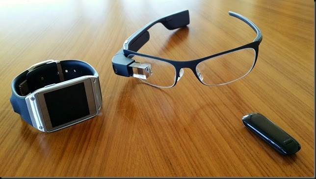 Wearables on a table