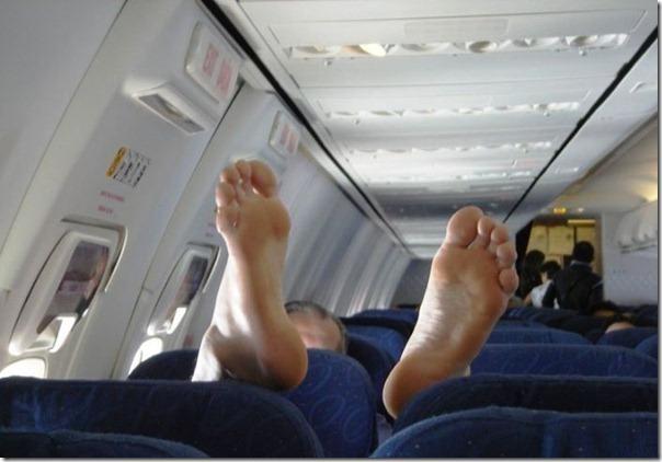 Relaxando no avião