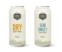 image of Seattle Cider Dry & Seattle Cider Semi-Sweet courtesy the cidery