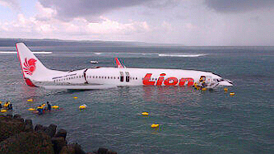 Lion Air landing in Bali