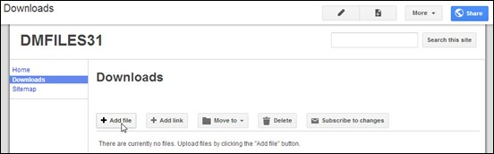 Meng-upload file ke Google Sites