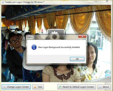 logon change in windows 7