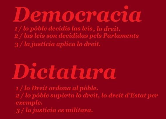 democracia dictatura