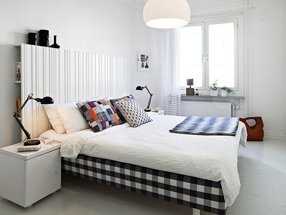 decoración dormitorio con estilo sueco