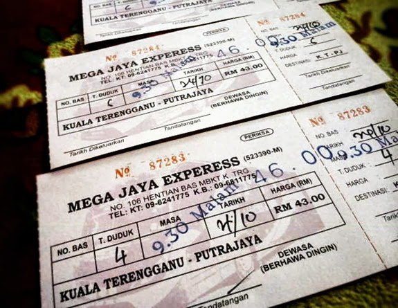 tiket bas Mega Jaya