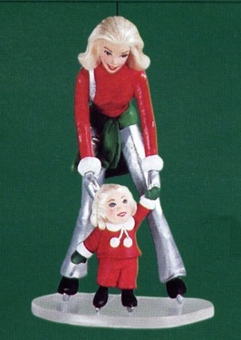 Barbie & Kelly on the Ice 2001 Hallmark Ornament