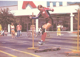 Over the high jump on this Makaha demo at a K Mart Store