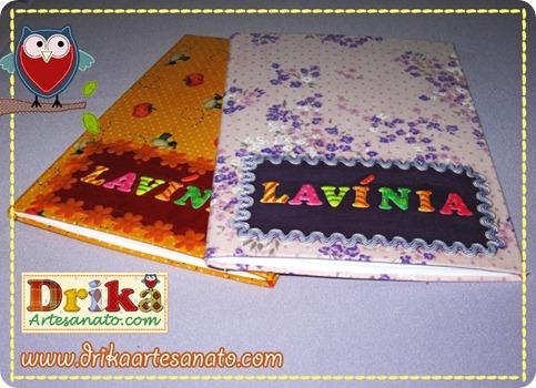 17 Passo a Passo caderno decorado com tecido