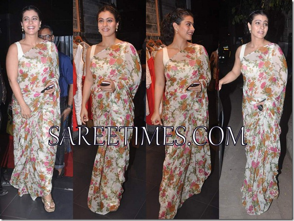 Kajol_Printed_Sari
