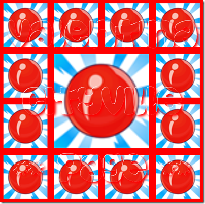 1 caramella rossa