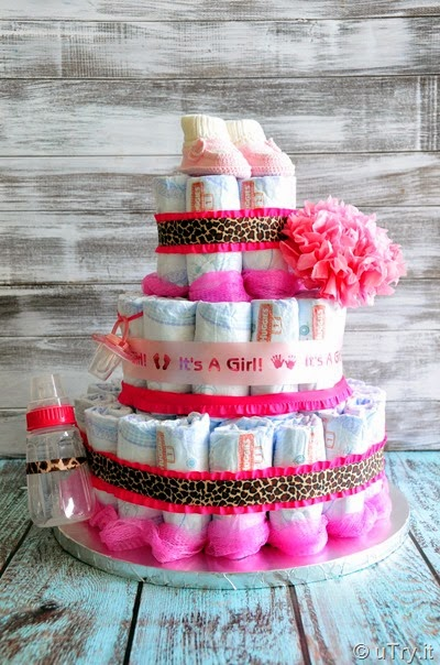 How to make a 3-tier Diaper Cake  http://uTry.it