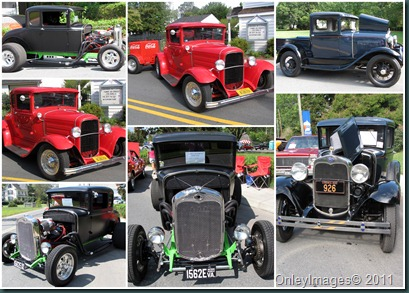 old cars collage