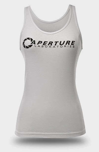Chell Aperture Laboratories Portal Tank Top from ThinkGeek