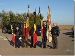 Inhuldiging van het monument ter nagedachtenis van een gesneuvelde Amerikaanse piloot tijdens W.O.II.