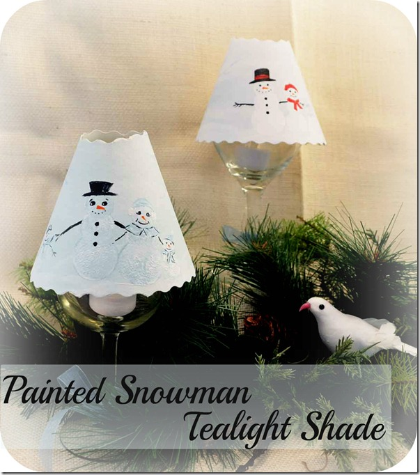 Handmade holidays: how to make a painted snowman tealight