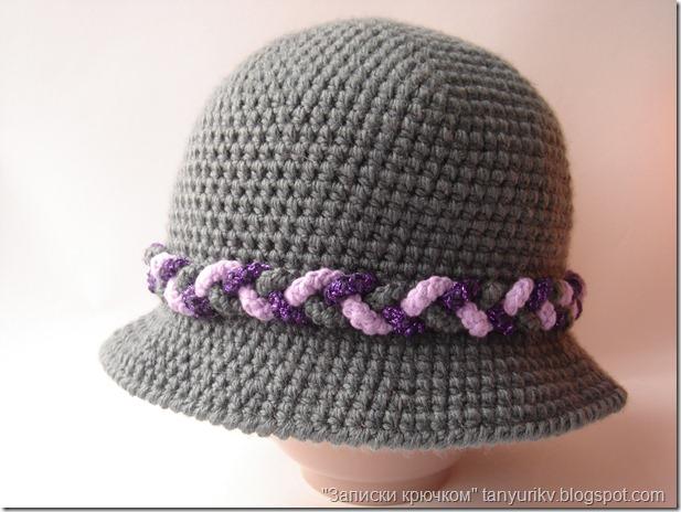 вязанная крючком шляпа