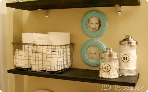 Luxury  shelves kids bathroom
