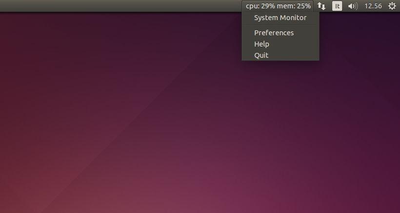 Indicator-SysMonitor in Ubuntu