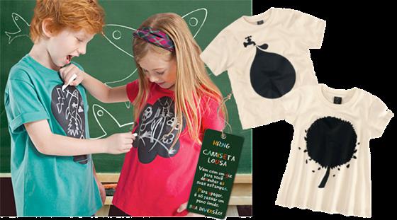 Hering - Camiseta lousa Dia das Crianças
