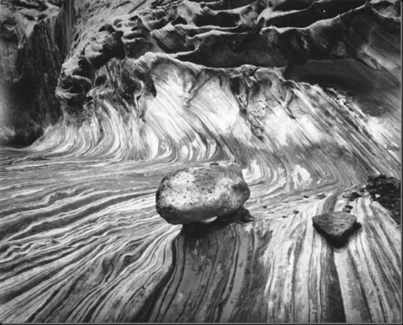 Boulder and Metamorphose Wave, Capital Reef National Park 1987-88