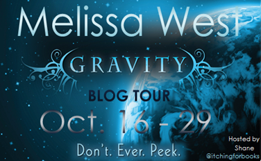 Melissa West, Tynga's Review, Gravity, Gravity book tour, Itching for books