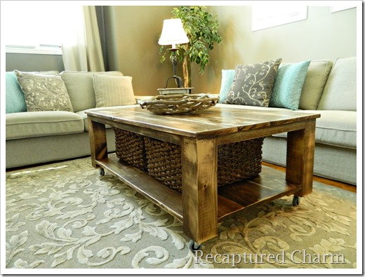 Recaptured Charm: Do It Yourself – Rustic Coffee Table