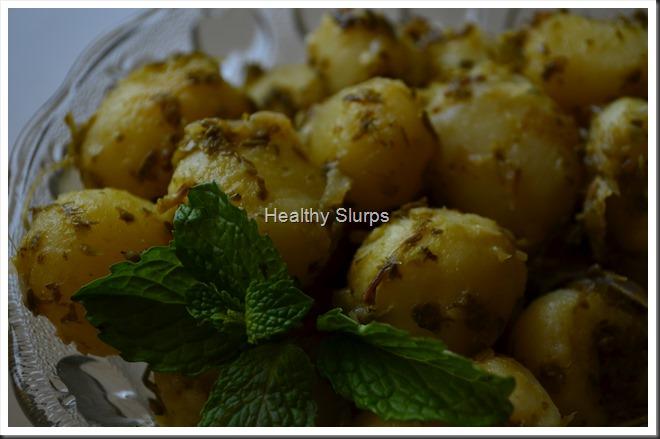 Minty Garlicky Potatoes