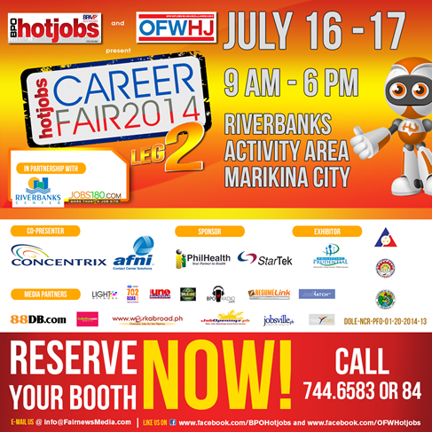 Job Fair July 16-17 Marikina