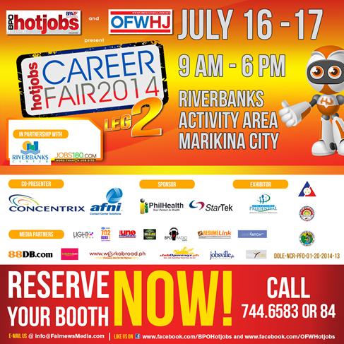 Job Fair July 16-17 Marikina