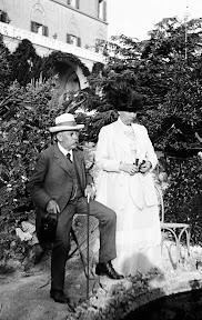 Älteres Paar, Scan vom Glasnegativ, ca. 1914 - 1918