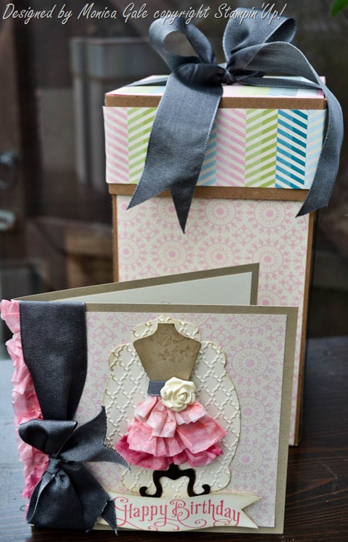 Stampin'Up! Tea for Two Ombre ruffled dress